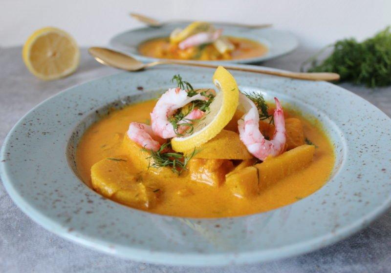 glutenfri fisksoppa med saffran